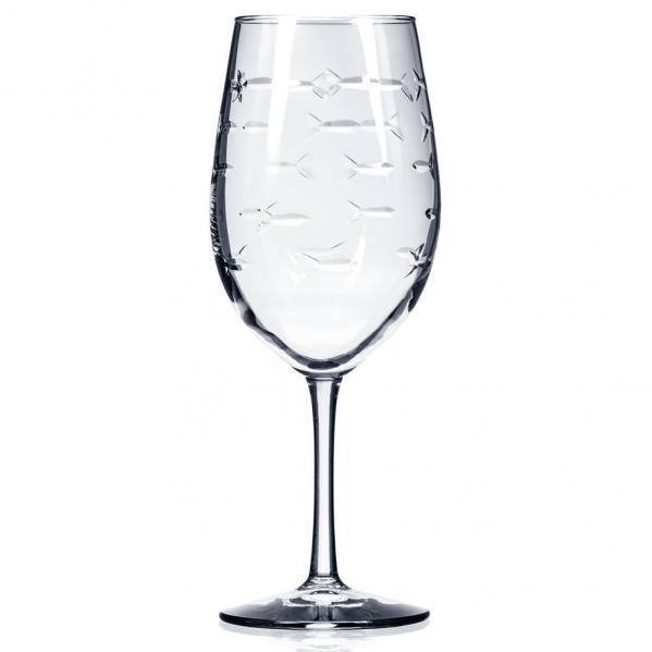 Rolf Glass School of Fish All Purpose Wine Glasses 18 oz. (Set of 4)