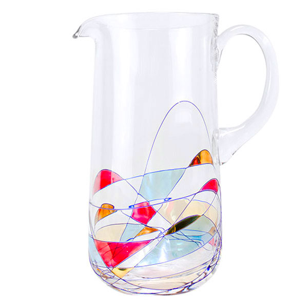 Milano Crystal Glass Pitcher - holds 8 cups