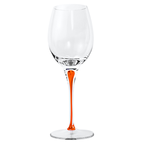 Orange Stem Crystal Red Wine Glasses 22 oz (Set of 2)