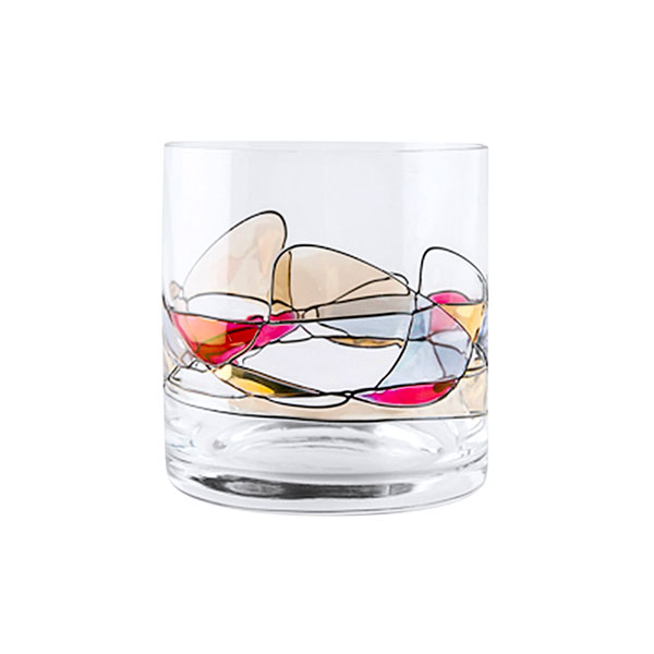 Milano Noir Crystal Whiskey Glasses 14 oz (Set of 2)
