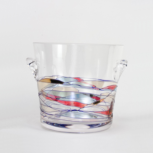 Milano Crystal Ice Bucket - holds 5 1/2 cups