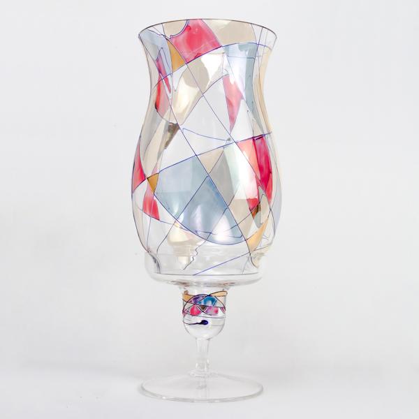 Milano Crystal Hurricane Candle Lamp