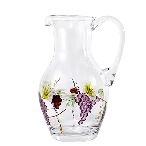 Bacchus Crystal Mid-Size Pitcher  28 oz