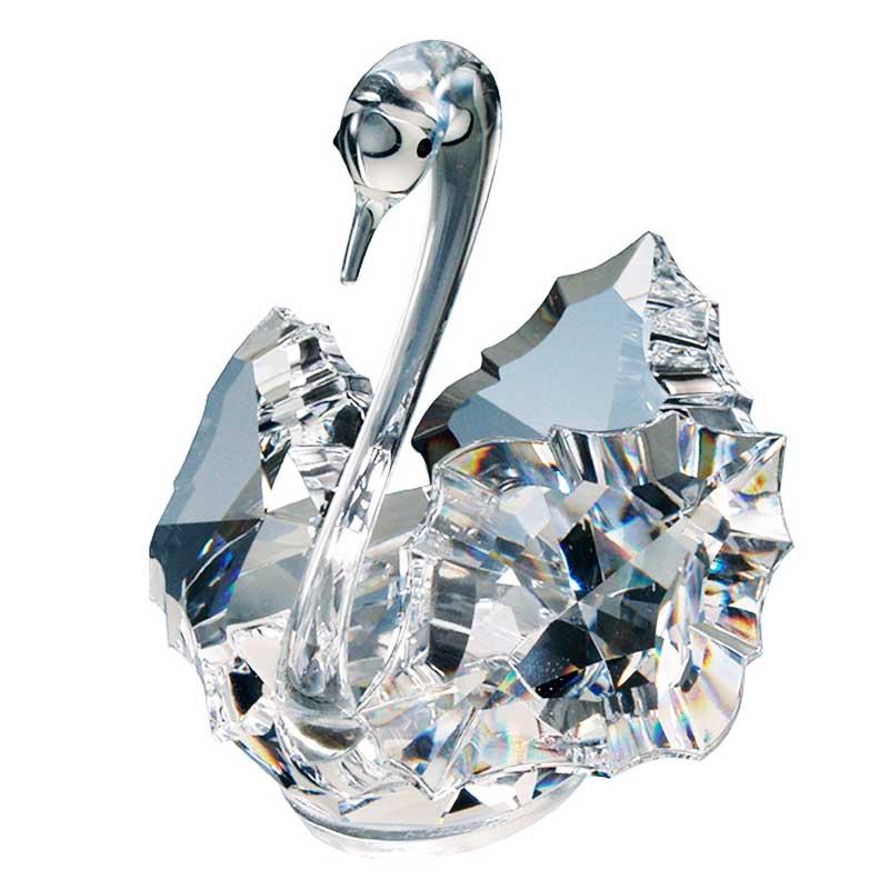 Crystal Swan Figurine by Preciosa 2.9 inches