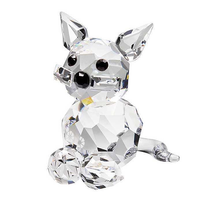 Preciosa Crystal Kitten Figurine Sitting