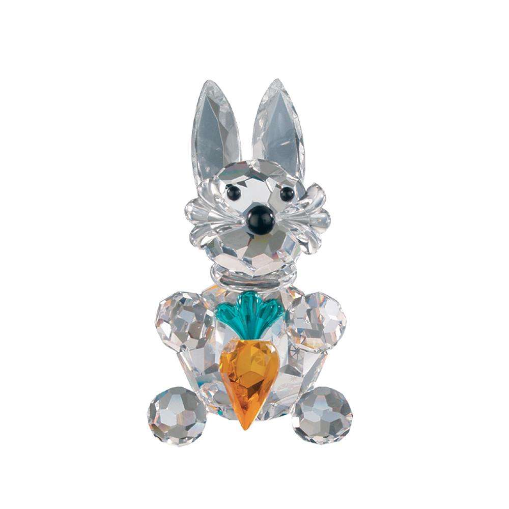 Preciosa Crystal Hare with Carrot Figurine