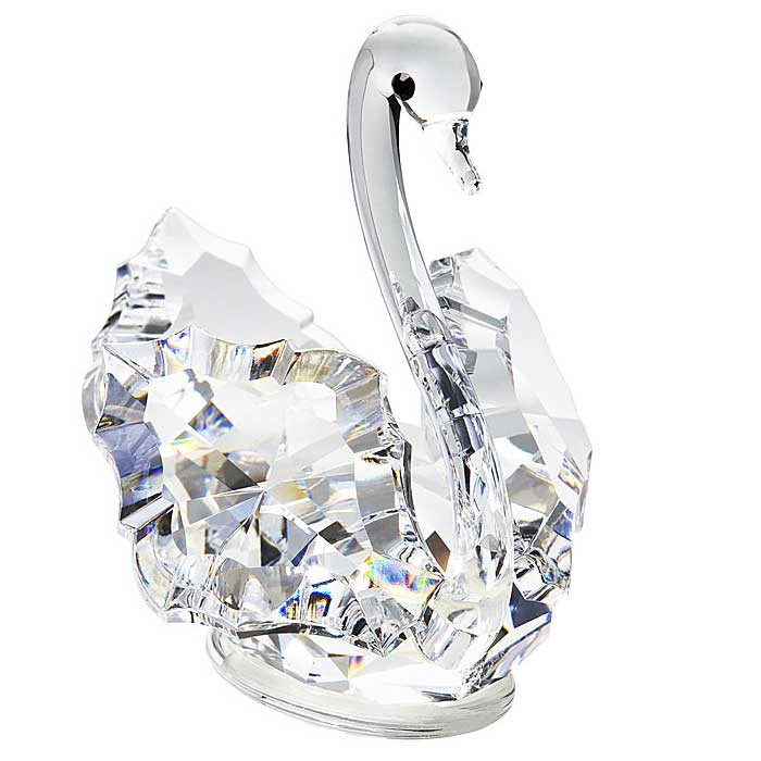 Preciosa Crystal Swan Figurine - 1.7 inches