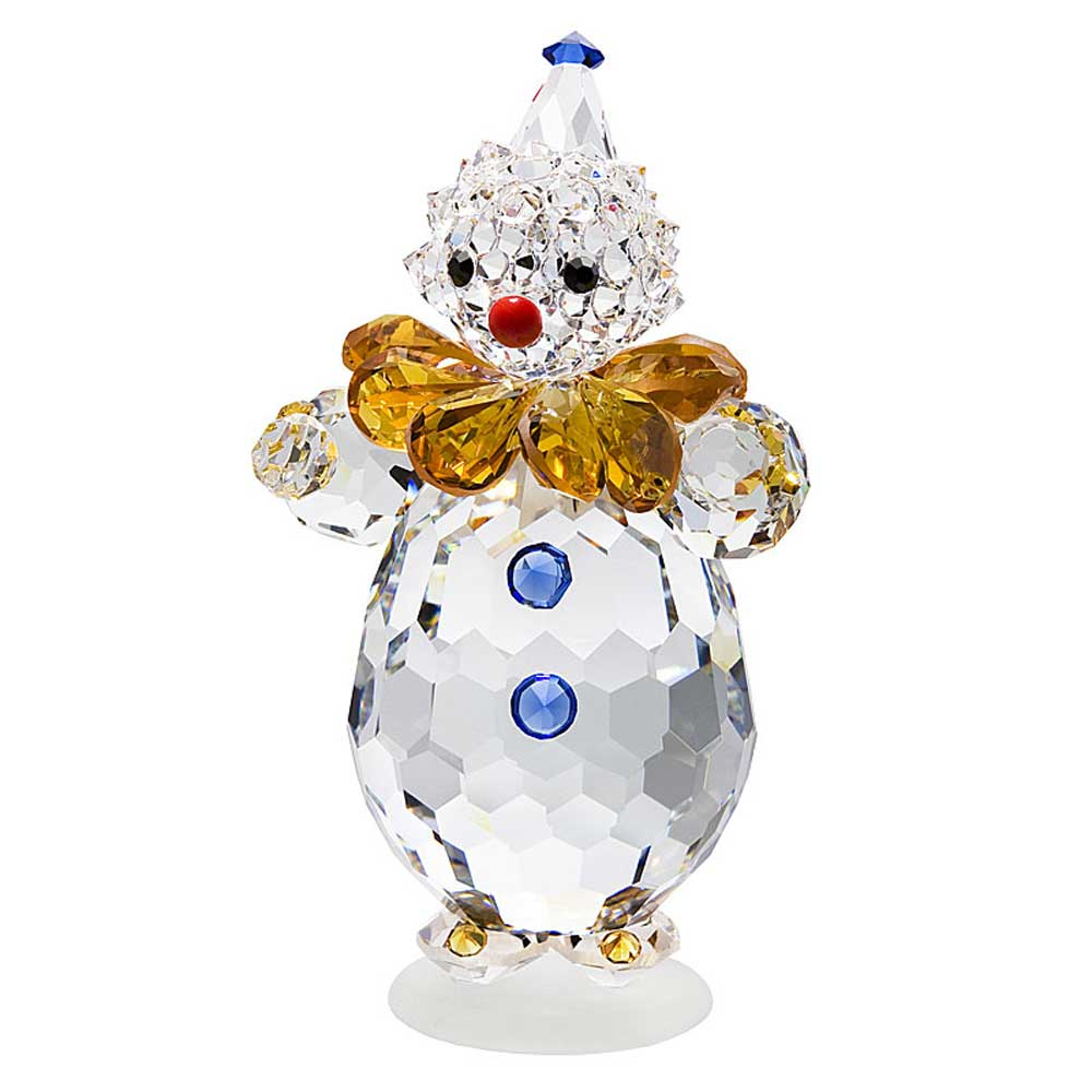 Preciosa Colorful Crystal Clown Figurine