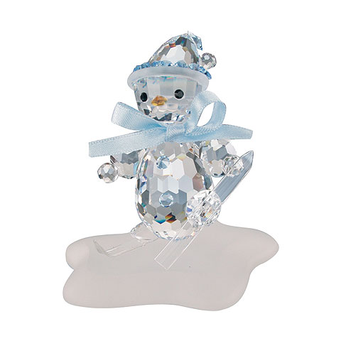 Preciosa Crystal Snowman on Skis Figurine