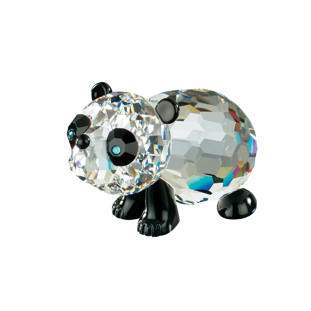 Preciosa Crystal and Black Panda Bear Figurine