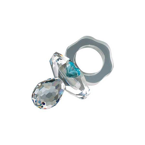 Preciosa Crystal Pacifier with Blue Heart