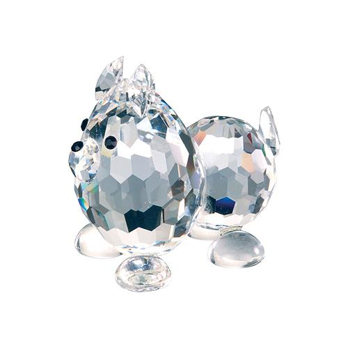 Preciosa Crystal Poodle Dog Figurine