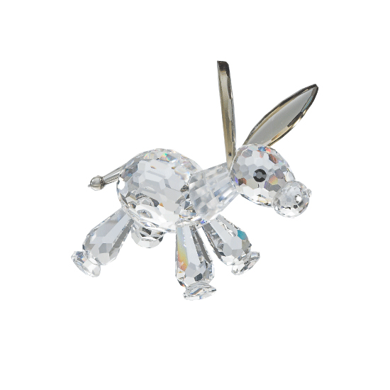 Preciosa Crystal Baby Donkey Figurine with Big Ears