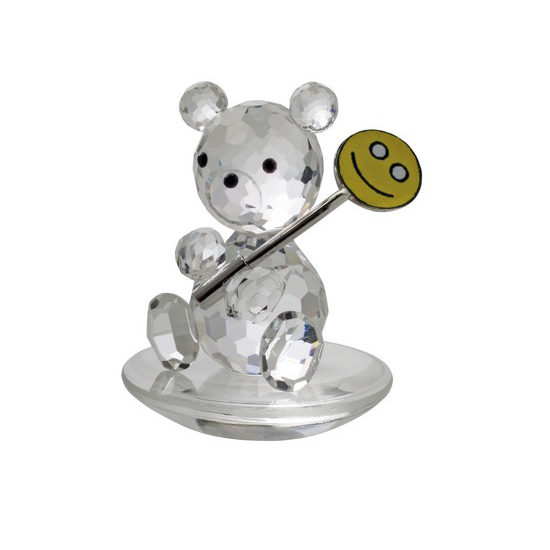 Preciosa Clear Crystal Baby Bear with Lollipop