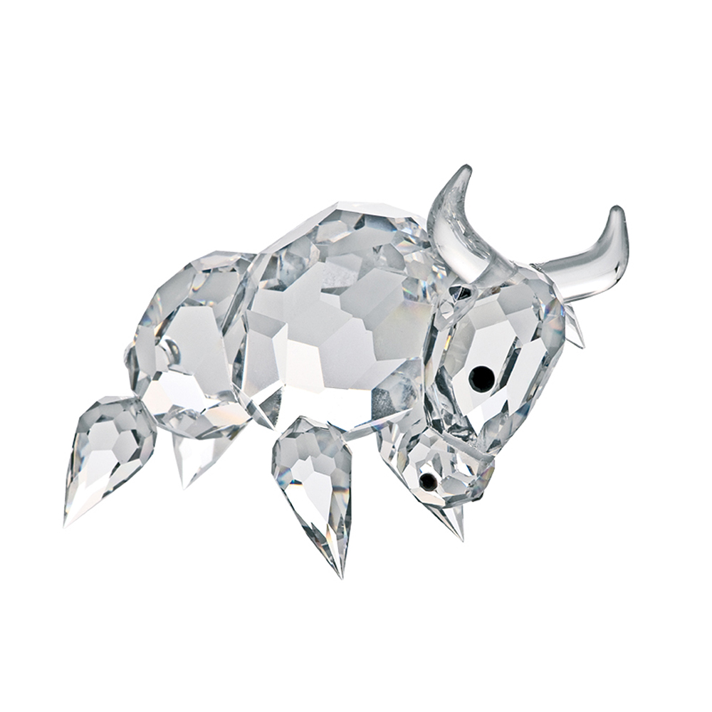 Preciosa Crystal Buffalo Figurine, Symbol of Faithfulness
