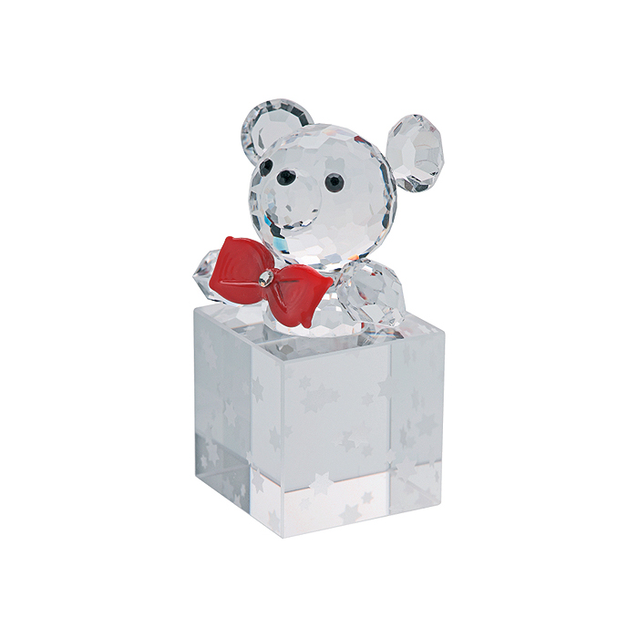 Preciosa Crystal Teddy Bear in Christmas Gift Box