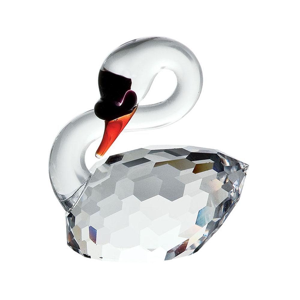 Preciosa Crystal Mute Swan Figurine