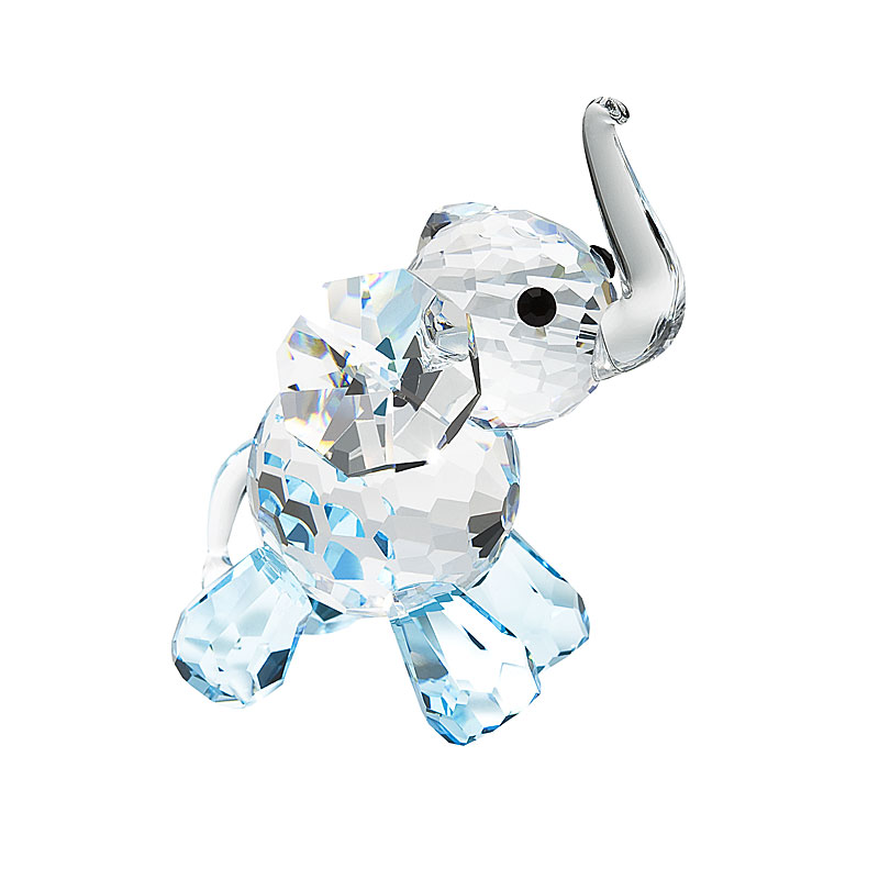 Preciosa Blue Crystal Lucky Elephant Figurine