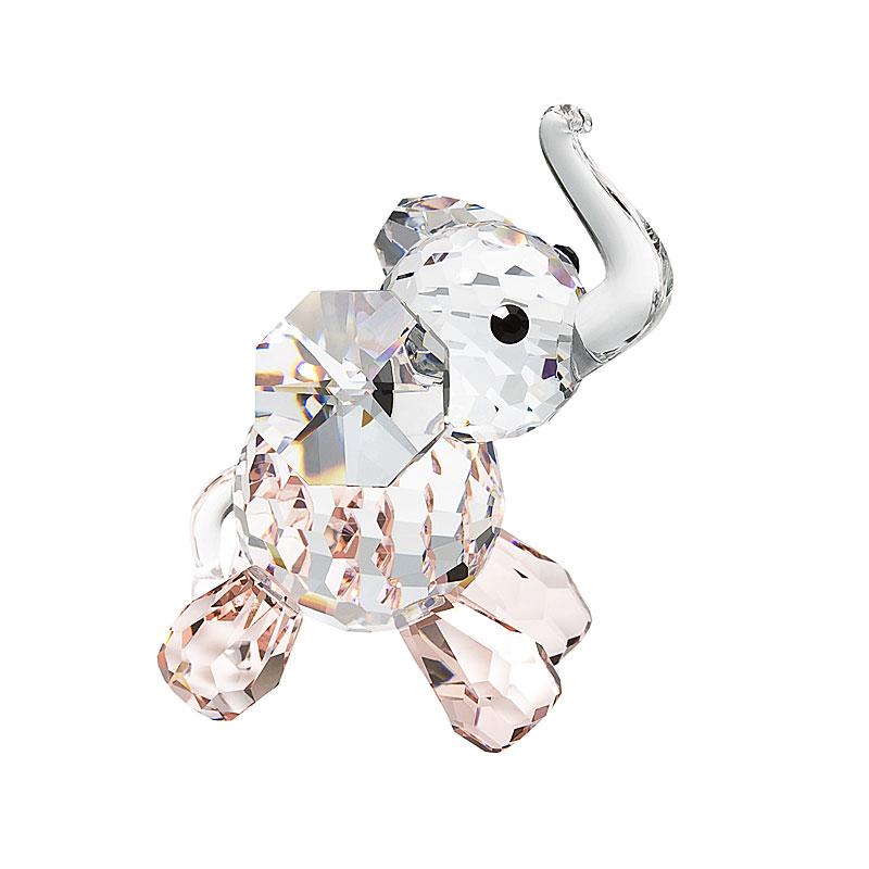 Preciosa Pink Crystal Lucky Elephant Figurine