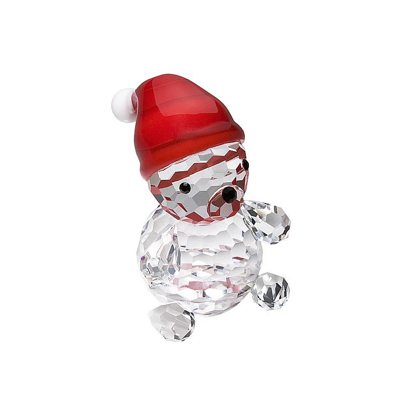 Preciosa Crystal Baby Bear Santa Figurine