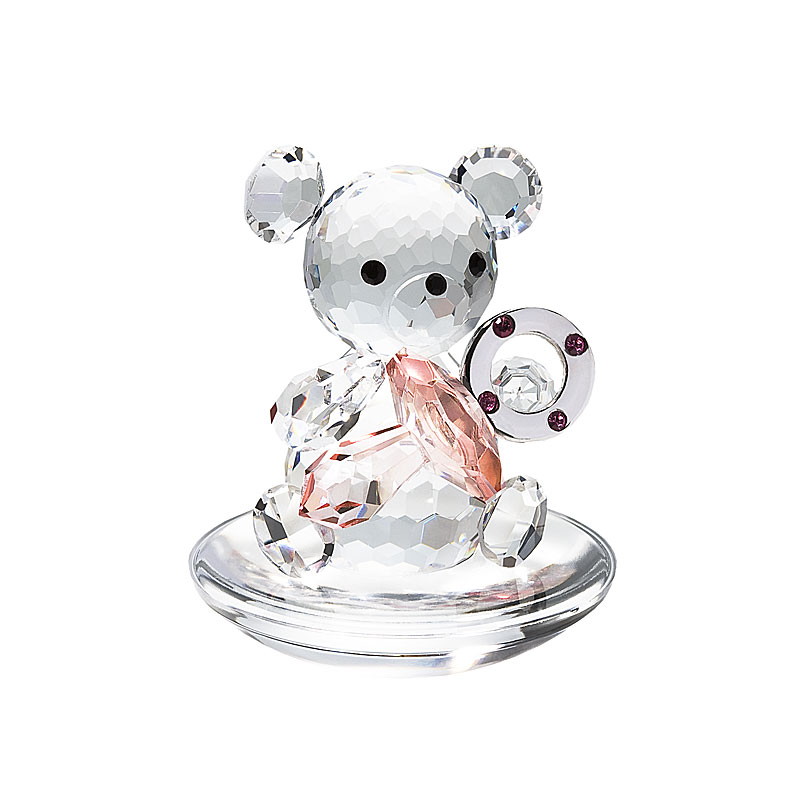 Preciosa Crystal Baby Bear holding Pink Pacifier
