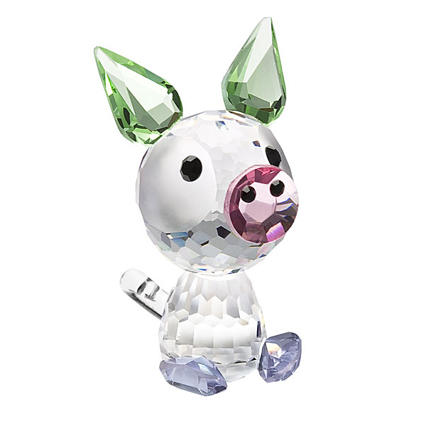 Preciosa Crystal Piggy Porky Birthday Figurine