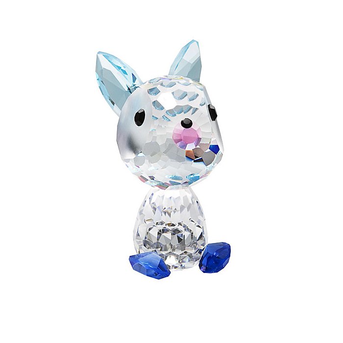 Preciosa Crystal Bunny Checkers Birthday Figurine