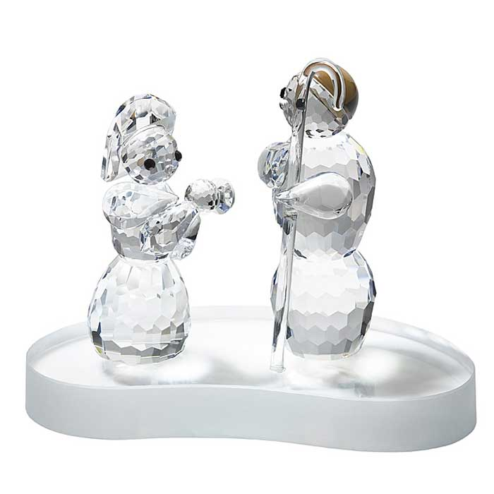 Preciosa Crystal Christmas Holy Family Figurine