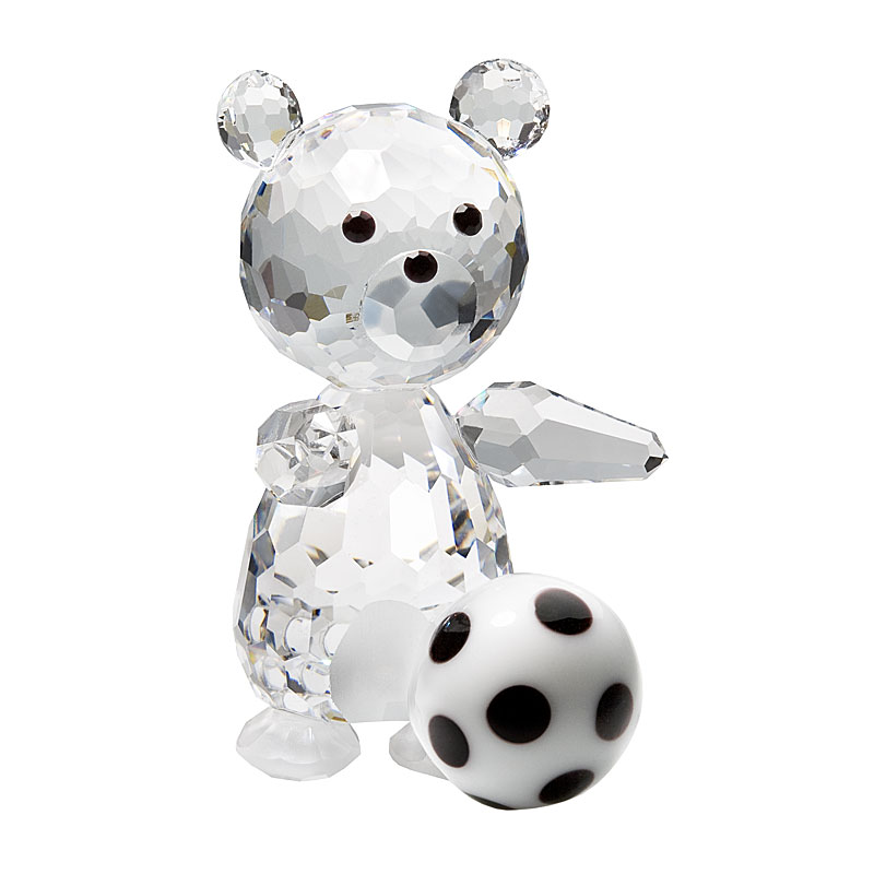 Preciosa Crystal Teddy Bear Soccer Player Figurine
