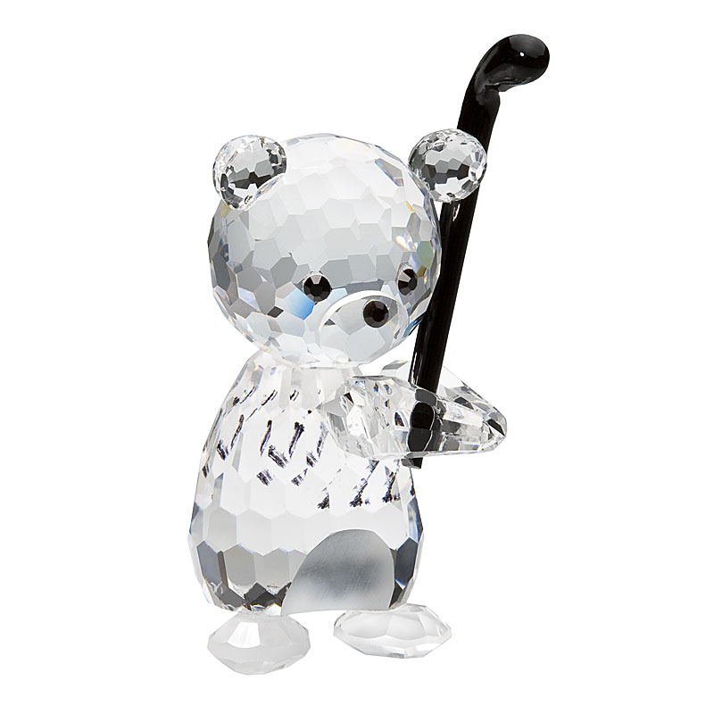 Preciosa Crystal Teddy Bear Golfer Figurine