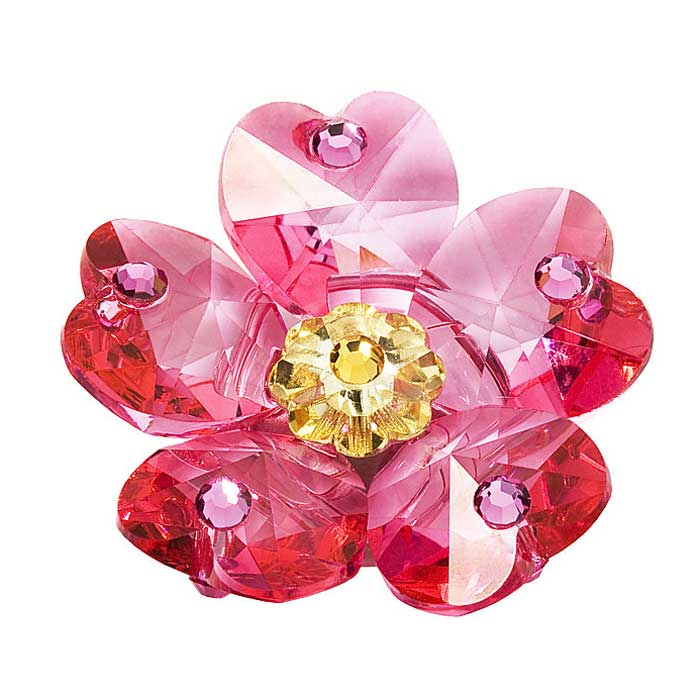 Preciosa Crystal Sweetbriar Flower with  Magnet