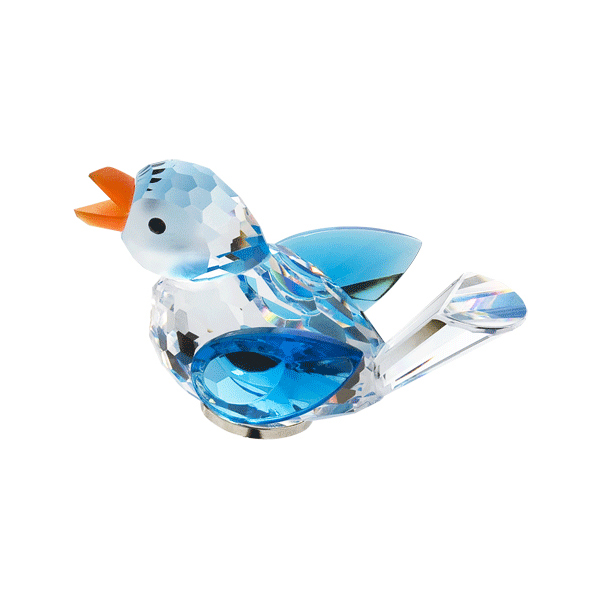 Preciosa Crystal Blue Bird Figurine with Magnet