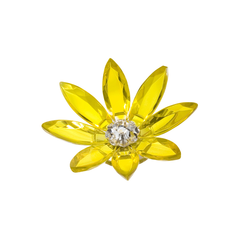 Preciosa Crystal Yellow Marguerite Flower with Magnet