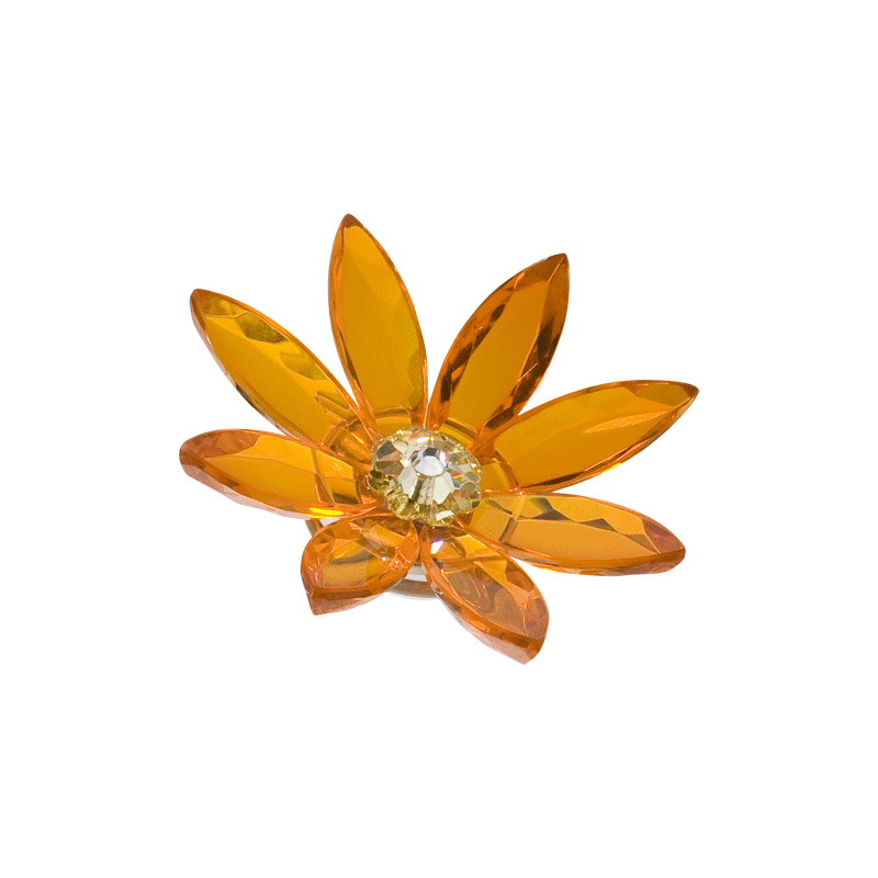 Preciosa Crystal Orange Marguerite Flower with Magnet