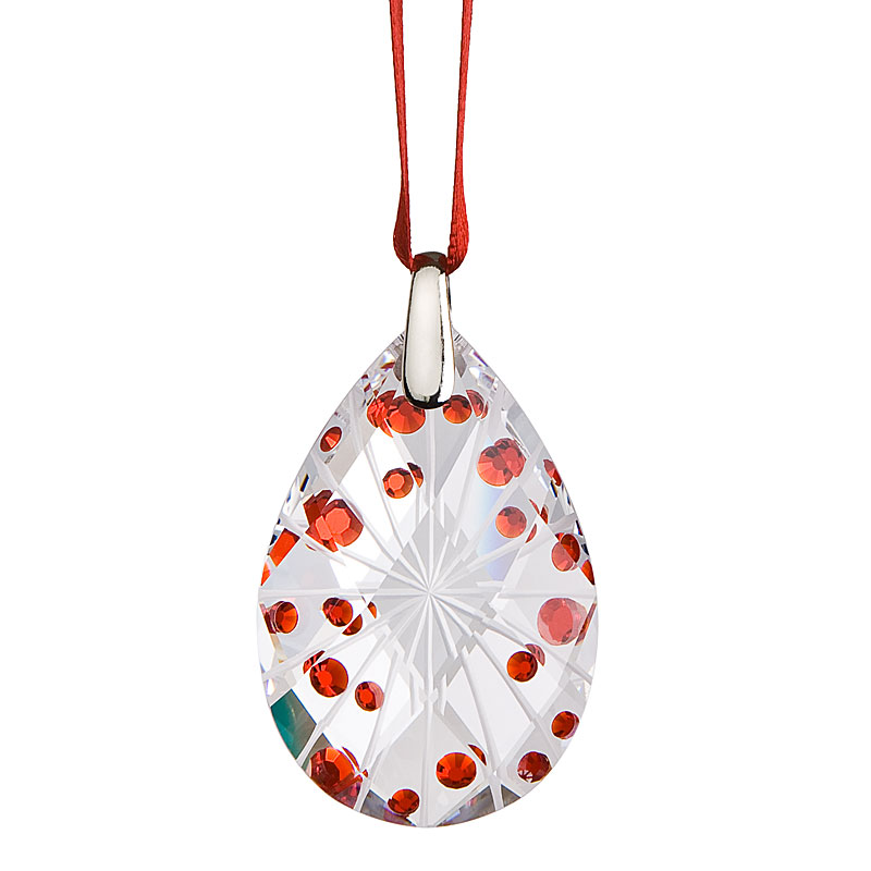 Preciosa Crystal Light Siam Drop Ornament