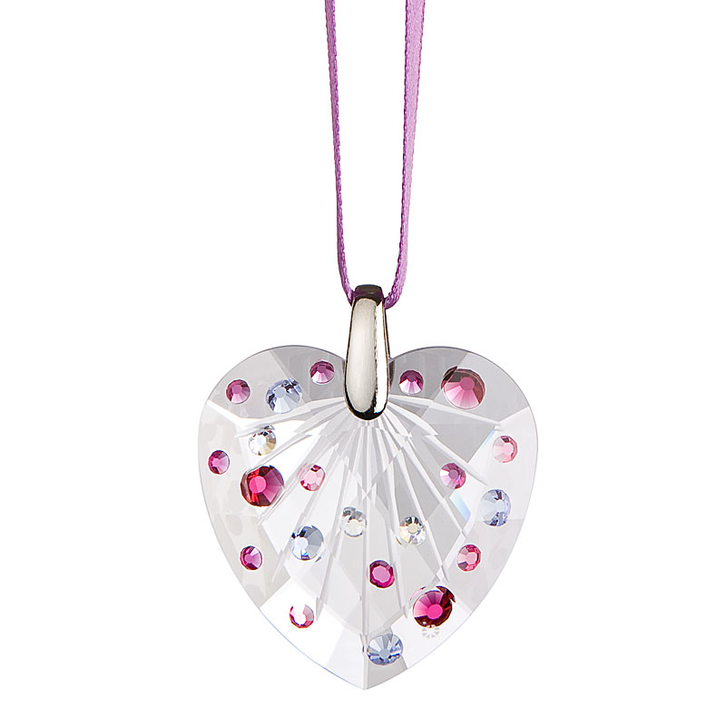 Preciosa Crystal Violet Heart Ornament