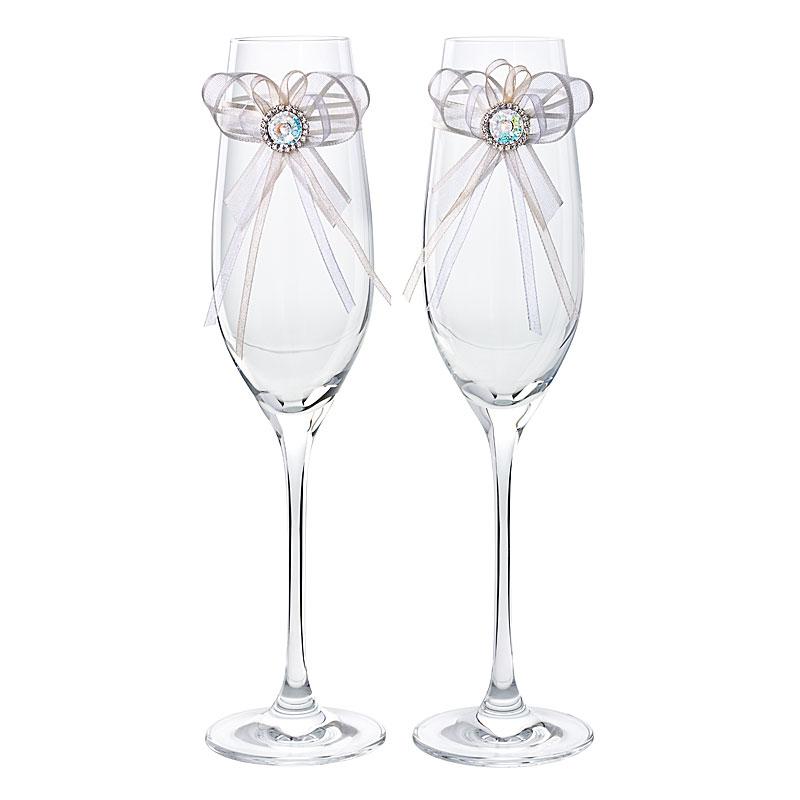 Preciosa Crystal Champagne Wedding Flutes