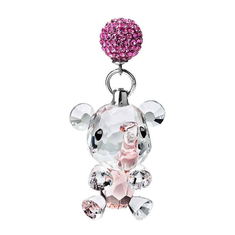 Preciosa Crystal Dangling Elephant Figurine with Magnet