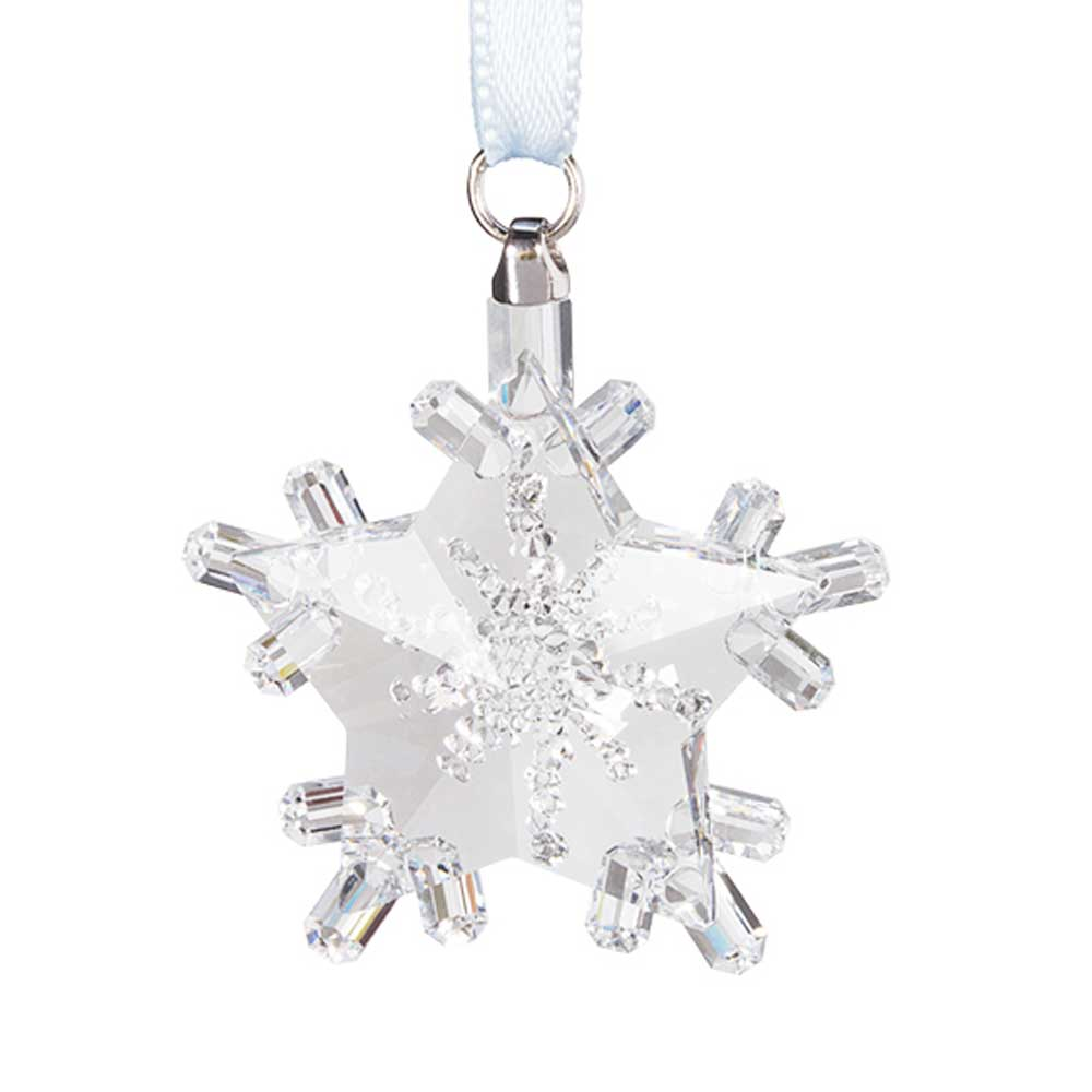 Preciosa Crystal Snowflake Star Ornament