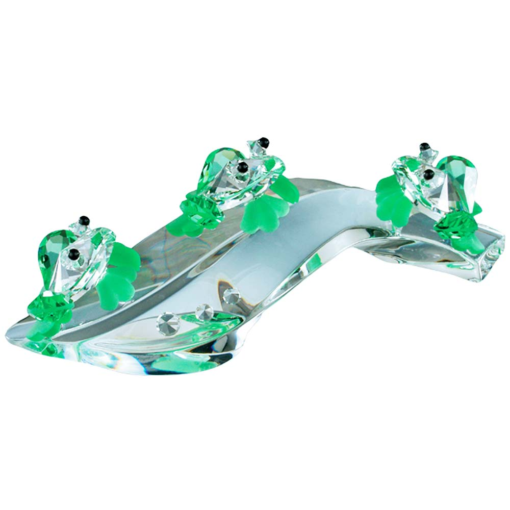 Preciosa Crystal Frogs in Concert Figurine
