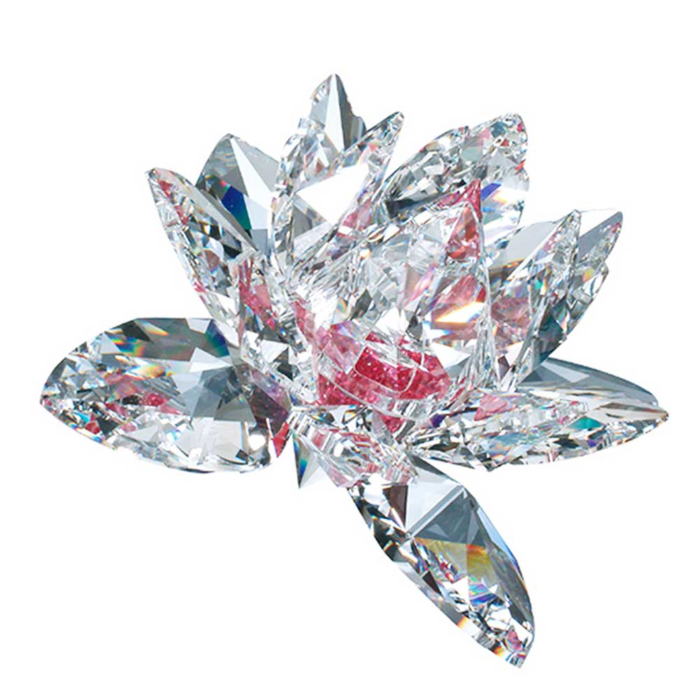 Preciosa Crystal Lotus Flower with Pink Center