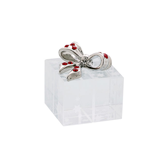 Crystal Christmas Gift Box with Decorative Bow
