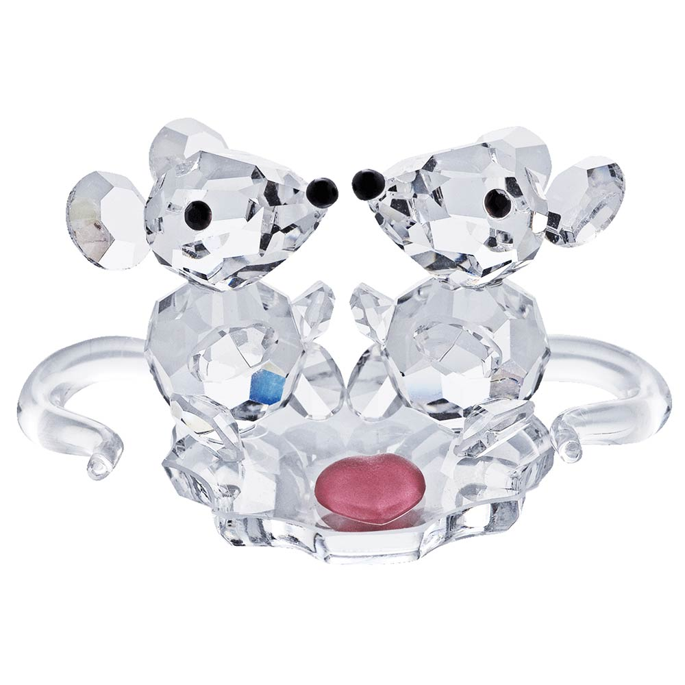 Preciosa Crystal Sweet Twosome Mice in Love Figurine