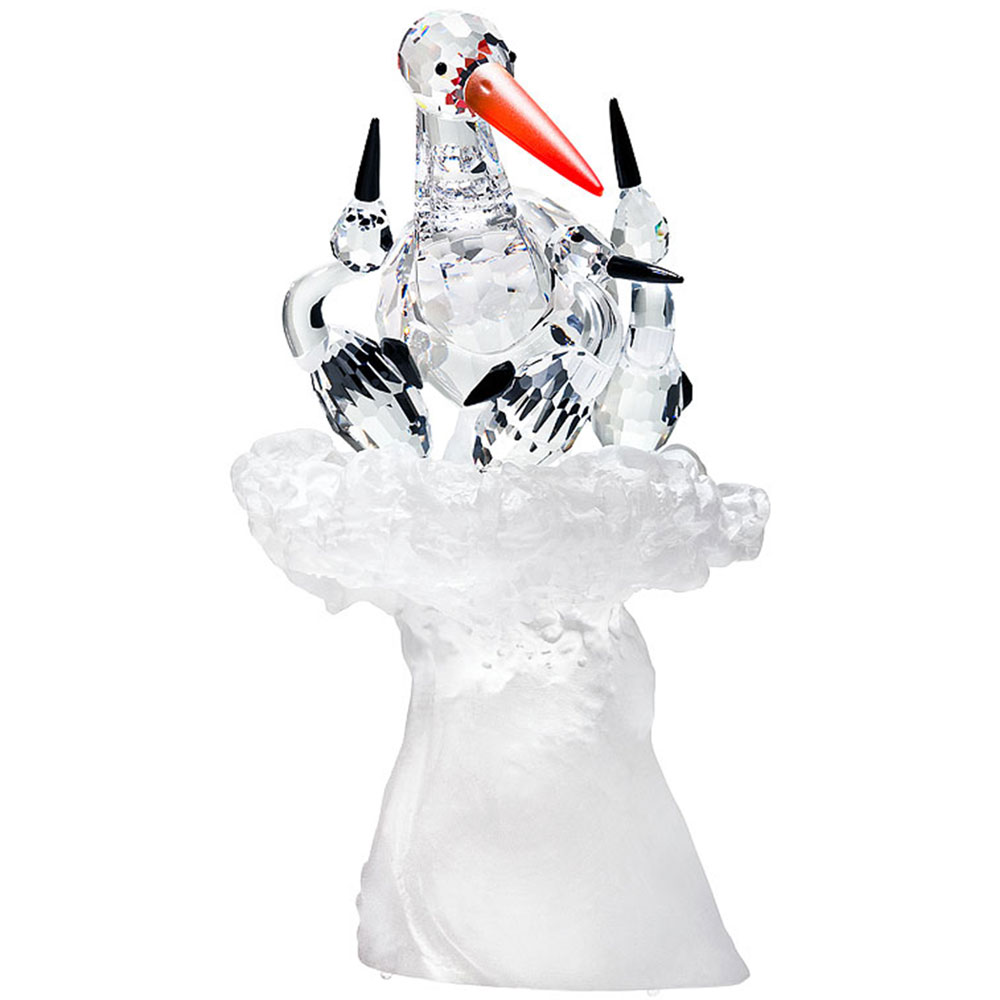 Preciosa Crystal Stork Family  Figurine - 2012 Limited Edition