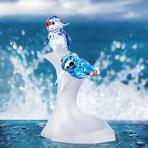 Preciosa Crystal Kingfisher Figurine Designer Series, Gemstone of the River