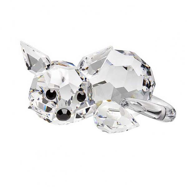 Preciosa Crystal Kitten Figurine Lying