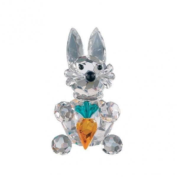 Preciosa Crystal Hare with Carrot Figurine