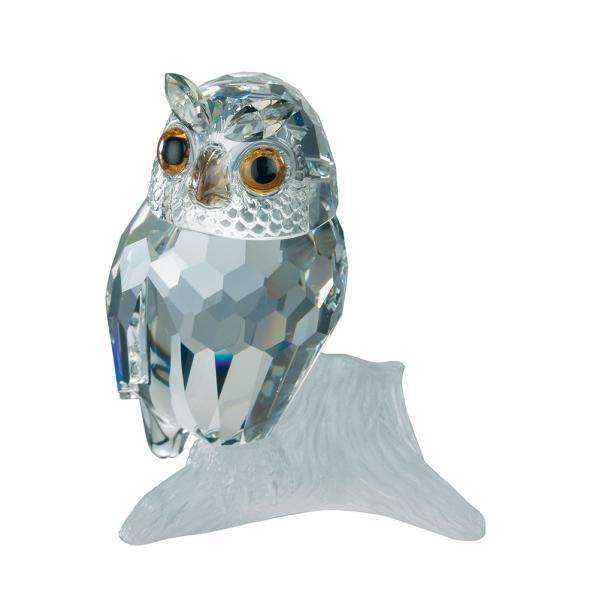 Preciosa Crystal Owl Figurine - 2004 Designer Series