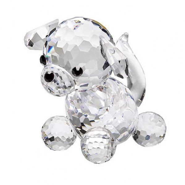 Preciosa Miniature Crystal Doggie Figurine