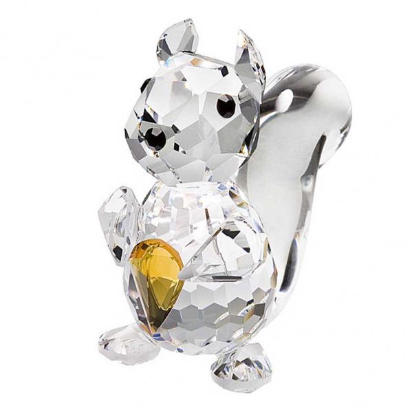 Preciosa Miniature Crystal Squirrel Figurine